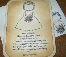 Luxurious Will You Be My Flower Girl - Swarvoski Crystals - Flower Girl Invitation - Beautiful 3 Layers - Choice of Ribbon Color