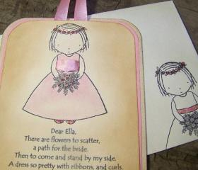 Will You Be My Flower Girl - Pink - Luxurious Sparkles - Vintage Style - Personalized